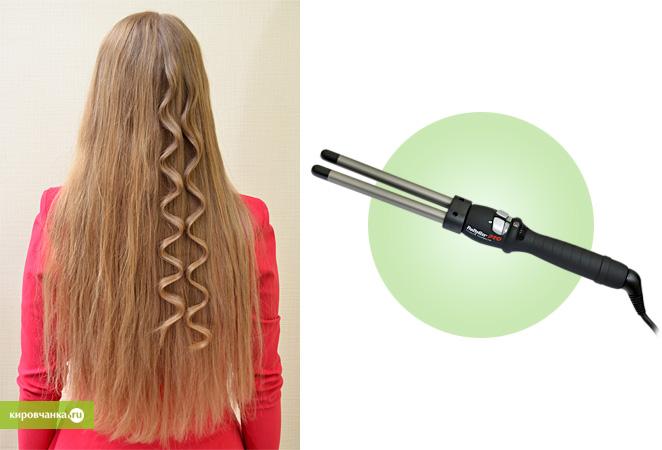 Щипцы для завивки волос волнами фото прически