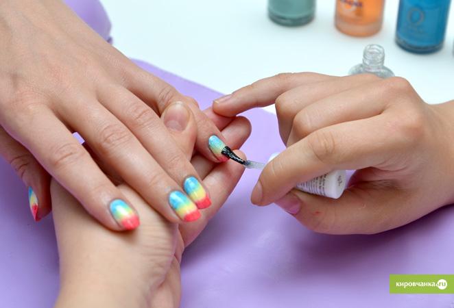 Маникюр на короткие ногти мастер класс фото