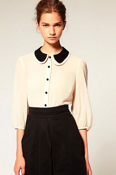 21 май 2014 Самые модные блузки весна лето 2014 фото. . Сочетая черный и . модные шифоновые блузки 2014 фото, летом