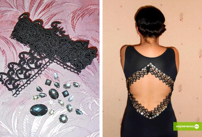 Как расшить платье камнями своими руками 31