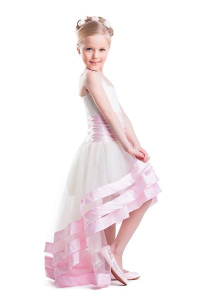 Бальное платье для девочки со шлейфом