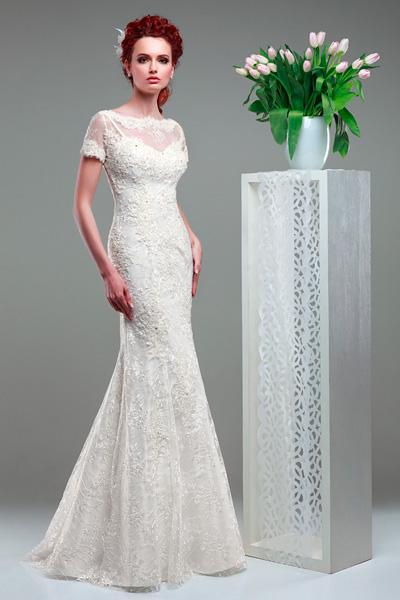 Свадебные платье из гипюра и кружева купить