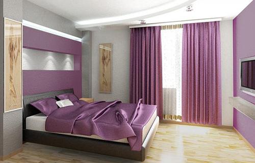 Цвет обоев для спальни по фен шуй фото