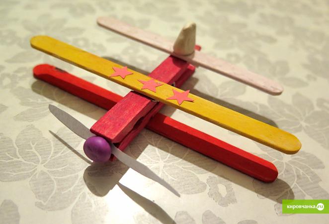 Как сделать самолет из прищепок своими руками 79