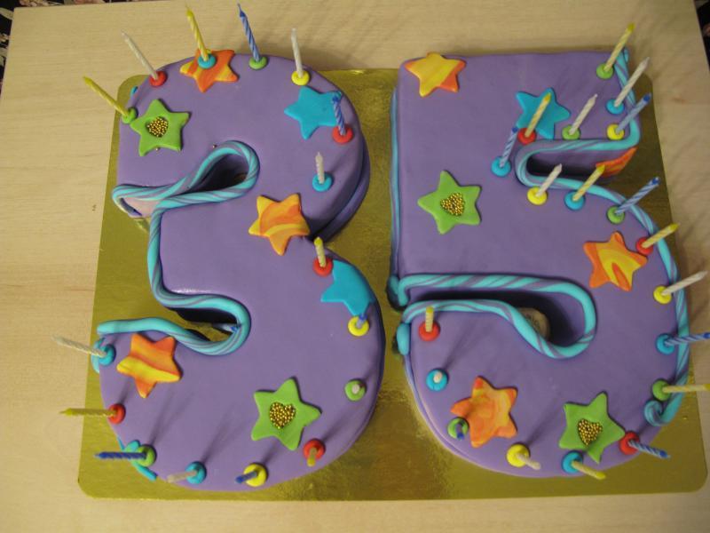 Как сделать торт 35 лет