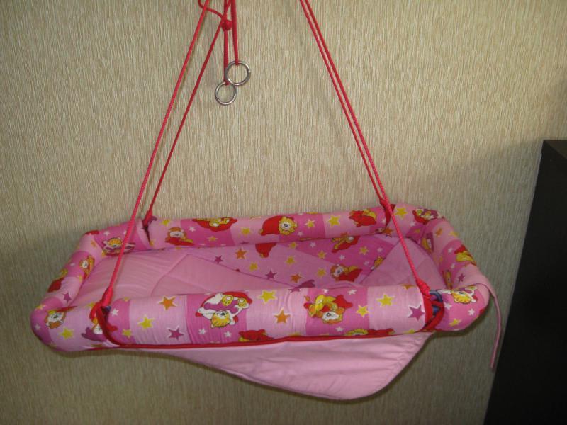 Люлька для новорожденных подвесная своими руками