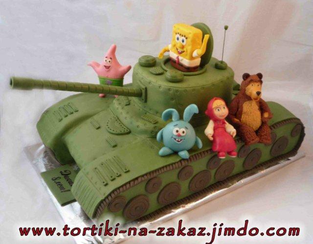 Торт в виде танка своими руками рецепт с фото