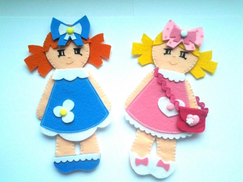 Как сделать куклы из фетра