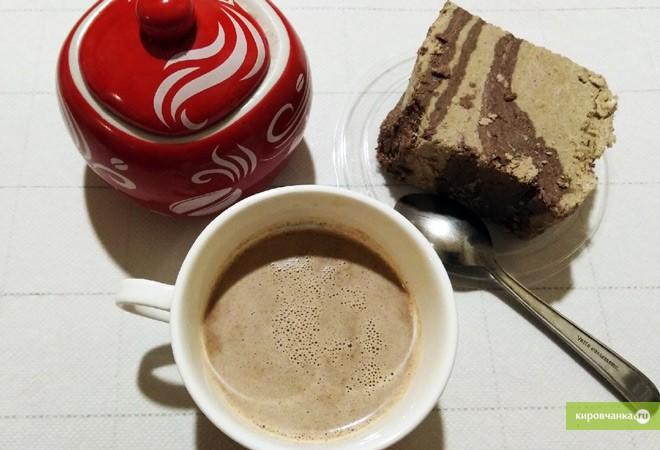 Мастер-класс по приготовлению кофе с халвой и горьким шоколадом