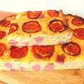 Пирог из кабачков с колбасой в духовке
