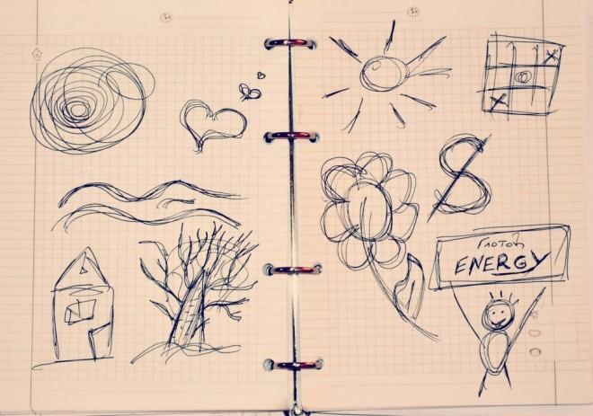 Непроизвольные рисунки и их значения