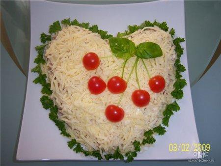 как оформить салат фото