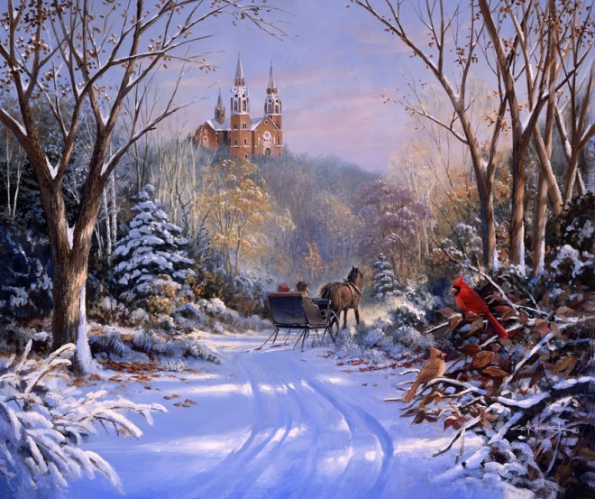 картинки зима в картинах русских художников